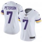 Women's Nike Vikings #7 Patrick Peterson White Stitched NFL Vapor Untouchable Limited Jersey