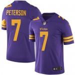 Youth Nike Vikings #7 Patrick Peterson Purple Stitched NFL Limited Rush Jersey