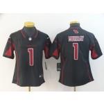 NFL Women Arizona Cardinals Kyler Murray #1 black Rush Limited Jersey