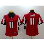 NFL Women Falcons Julio Jones #11 red Jersey
