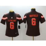 NFL Women Browns Baker Mayfield #6 Black jersey