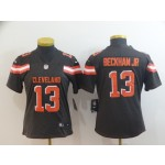 NFL Women Browns Beckham Jr #13 Black jersey