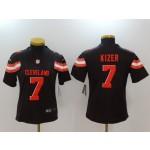 NFL Women Browns Kizer #7 Black jersey