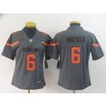 NFL Women Browns Baker Mayfield #6 Grey Inverted Legend Jersey