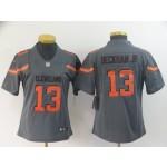 NFL Women Browns Beckham Jr #13 Grey Inverted Legend Jersey