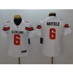 NFL Women Browns Baker Mayfield #6 White jersey