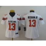 NFL Women Browns Beckham Jr #13 White jersey