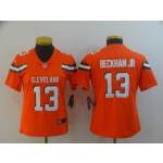 NFL Women Browns Beckham Jr #13 Orange jersey