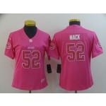 NFL Women Bears Khalil Mack #52 Pink Jersey