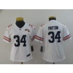 NFL Women Bears Walter Payton #34 white 100th Jersey