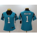 NFL Women Carolina Panthers Cam Newton #1 blue Jersey