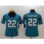 NFL Women Carolina Panthers McCaffrey #22 blue Jersey