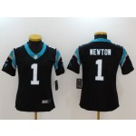 NFL Women Carolina Panthers Cam Newton #1 black Jersey