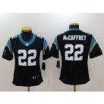 NFL Women Carolina Panthers McCaffrey #22 black Jersey