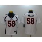 NFL Women Broncos Von Miller #58 White Jersey