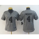 NFL Women Dallas Cowboys Dak Prescott #4 Grey Flax Jersey