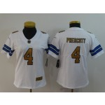 NFL Women Dallas Cowboys Dak Prescott #4 white Jersey