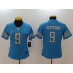 NFL Women Detroit Lions Stafford #9 sky blue Jersey