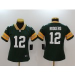 NFL Women Green Bay Packers Rodgers #12 green Jersey