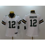 NFL Women Green Bay Packers Rodgers #12 White Jersey