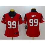NFL Women Houston Texans J.J. Watt #99 Red Jersey