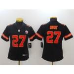 NFL Women Chiefs Kareem Hunt #27 Black Jersey
