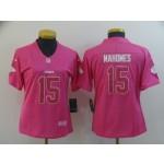 NFL Women Chiefs Mahomes #15 Pink Jersey