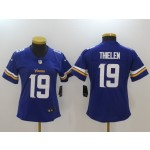NFL Women Minnesota Vikings Adam Thielen #19 purple Jersey