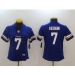 NFL Women Minnesota Vikings Case Keenum #7 purple Jersey