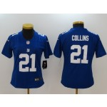 NFL Women New York Giants Collins #21 blue Jersey