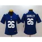 NFL Women New York Giants Saquon Barkley #26 blue Jersey