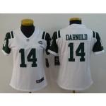 NFL Women New York Jets Sam Darnold #14 White Jersey
