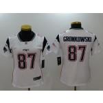NFL Women New England Patriots Rob Gronkowski #87 white Jersey