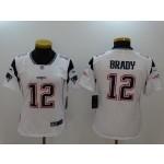 NFL Women New England Patriots Tom Brady #12 white Jersey