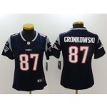 NFL Women New England Patriots Rob Gronkowski #87 Blue Jersey