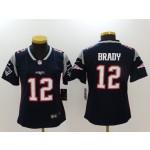 NFL Women New England Patriots Tom Brady #12 Blue Jersey