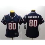 NFL Women New England Patriots Amendola #80 Blue Jersey