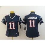 NFL Women New England Patriots Edelman #11 Blue Jersey
