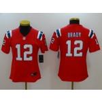 NFL Women New England Patriots Tom Brady #12 Red Jersey