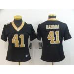 NFL Women New Orleans Saints Kamara #41 Black Jersey