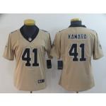 NFL Women New Orleans Saints Kamara #41 Gold Inverted Legend Jersey