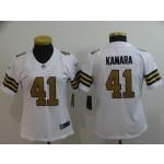 NFL Women New Orleans Saints Kamara #41 white Rush Limited Jersey