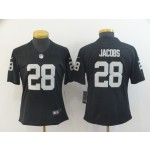 NFL Women Oakland Raiders Jacobs #28 black Jersey