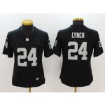 NFL Women Oakland Raiders Lynch #24 black Jersey