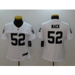 NFL Women Oakland Raiders Mack #52 White Jersey