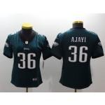 NFL Women Philadelphia Eagles Ajayi #36 Green Jersey