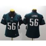 NFL Women Philadelphia Eagles Long #56 Green Jersey