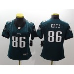 NFL Women Philadelphia Eagles Ertz #86 Green Jersey