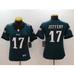 NFL Women Philadelphia Eagles Jeffery #17 Green Jersey