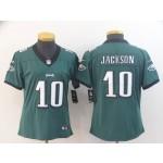NFL Women Philadelphia Eagles Jackson #10 Green Jersey